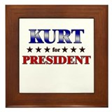 KURT for president Framed Tile