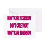 Don't Care! Greeting Cards (Pk of 10)
