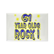 61 Year Olds Rock ! Rectangle Magnet (10 pack)