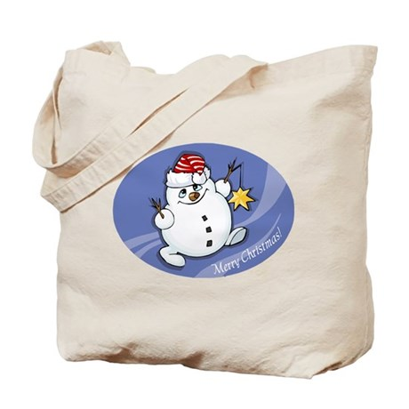 Merry Christmas snowman Tote Bag