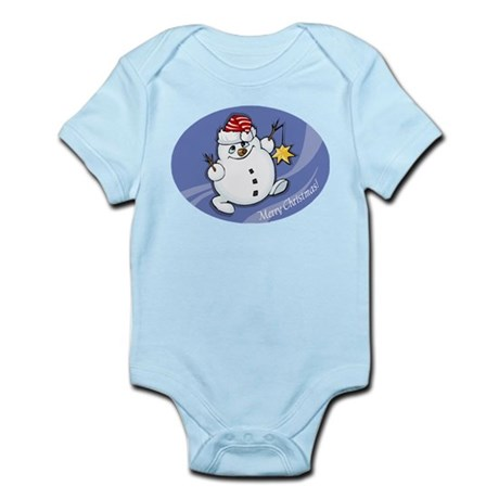 Merry Christmas snowman Infant Bodysuit
