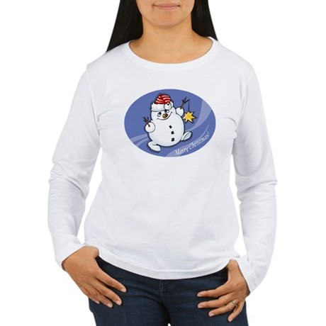 Merry Christmas snowman Women's Long Sleeve T-Shir