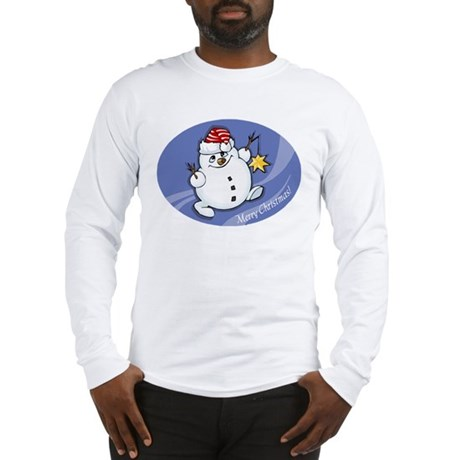 Merry Christmas snowman Long Sleeve T-Shirt