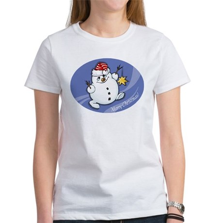 Merry Christmas snowman Women's T-Shirt