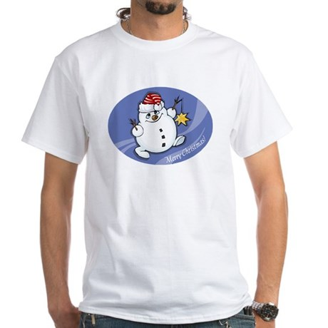 Merry Christmas snowman White T-Shirt