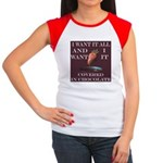 Chocolate - I Want It All Women's Cap Sleeve T-Shi