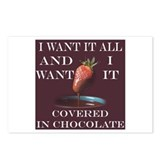 Chocolate - I Want It All Postcards (Package of 8)