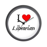 I Love My Librarian Wall Clock