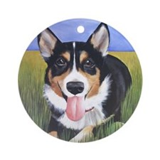 Corgi Ornament (Round)