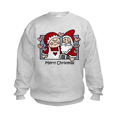 Merry Christmas Santa Kids Sweatshirt