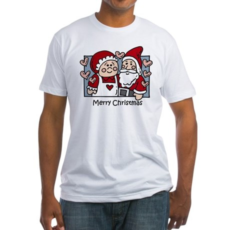 Merry Christmas Santa Fitted T-Shirt