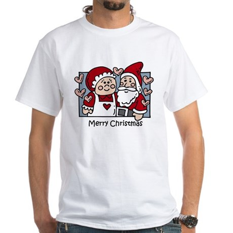 Merry Christmas Santa White T-Shirt