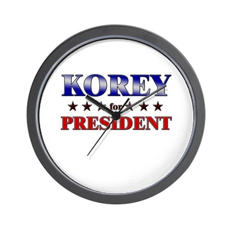 KOREY for president Wall Clock