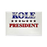 KOLE for president Rectangle Magnet (10 pack)