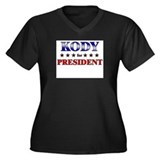 KODY for president Women's Plus Size V-Neck Dark T