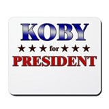 KOBY for president Mousepad