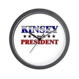KINSEY for president Wall Clock