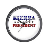 KIERRA for president Wall Clock