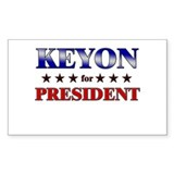 KEYON for president Rectangle Decal