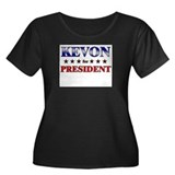 KEVON for president Women's Plus Size Scoop Neck D