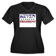 KEVEN for president Women's Plus Size V-Neck Dark