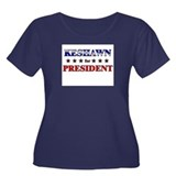 KESHAWN for president Women's Plus Size Scoop Neck