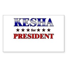 KESHA for president Rectangle Decal