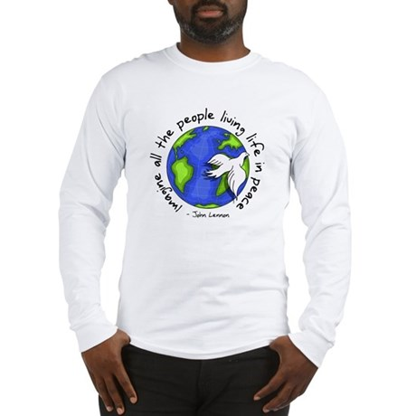 Imagine - World - Live in Peace Men's Long Sleeve T-Shirt