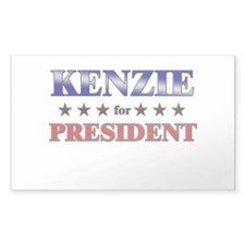 KENZIE for president Rectangle Decal