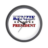 KENZIE for president Wall Clock