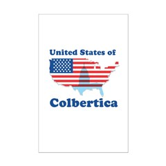 United States of Colbertica Mini Poster Print