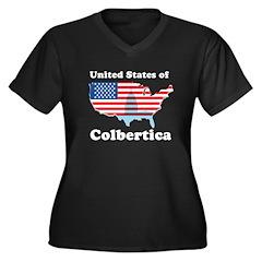 United States of Colbertica Women's Plus Size V-Ne