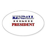 KENDALL for president Oval Decal