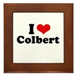 I Love Colbert Framed Tile