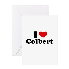 I Love Colbert Greeting Card