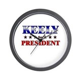 KEELY for president Wall Clock