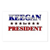 KEEGAN for president Postcards (Package of 8)
