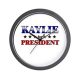 KAYLIE for president Wall Clock