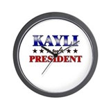 KAYLI for president Wall Clock