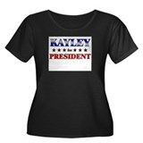 KAYLEY for president Women's Plus Size Scoop Neck