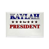 KAYLAH for president Rectangle Magnet