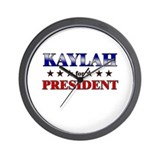 KAYLAH for president Wall Clock