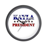 KAYLA for president Wall Clock