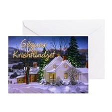 Snowy Home Greeting Card