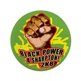 "Black Power 4 Sharpton 3.5"" Button"