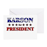 KARSON for president Greeting Cards (Pk of 10)