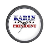 KARLY for president Wall Clock