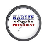KARLIE for president Wall Clock