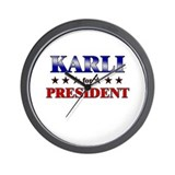 KARLI for president Wall Clock