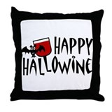 Happy Hallowine Throw Pillow